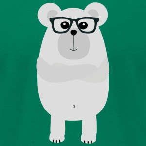 Nerd Polar Bear Sx4th T-Shirts - Men's T-Shirt by American Apparel