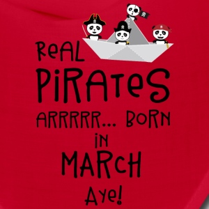 Real Pirates are born in MARCH Sw7wp Caps - Bandana