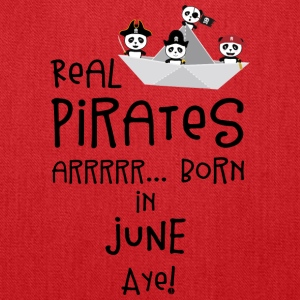 Real Pirates are born in JUNE Sr2xh Bags & backpacks - Tote Bag