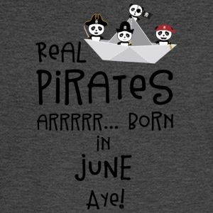 Real Pirates are born in JUNE Sr2xh Long Sleeve Shirts - Men's Long Sleeve T-Shirt