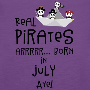 Real Pirates are born in JULY Slmj8 Tanks - Women's Premium Tank Top