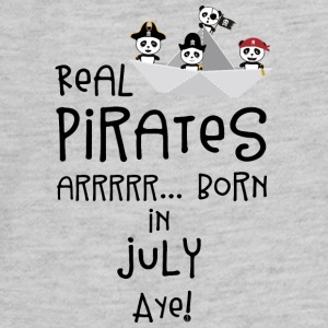 Real Pirates are born in JULY Slmj8 Kids' Shirts - Kids' Premium Long Sleeve T-Shirt
