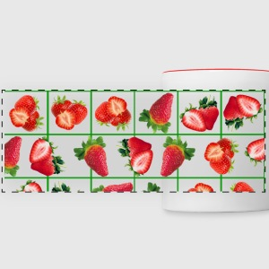 Strawberries pattern - Panoramic Mug