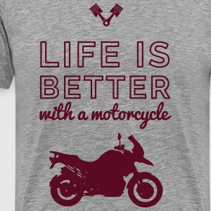 motocycle life is better T-Shirts - Men's Premium T-Shirt