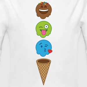 Emojis icecream  Baby Bodysuits - Long Sleeve Baby Bodysuit