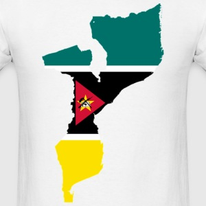 Mozambique Flag Map T-Shirts - Men's T-Shirt