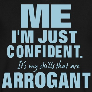 ME I'M JUST CONFIDENT T-Shirts - Men's V-Neck T-Shirt by Canvas