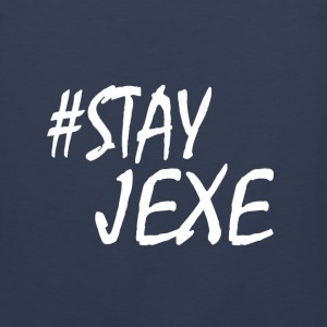 [White On Navy Blue] #StayJeXe - Tank Top - Men's Premium Tank