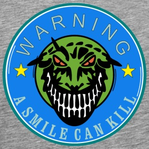 a smile can kill   us T-Shirts - Men's Premium T-Shirt