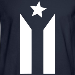 puerto rican black and white flag Long Sleeve Shirts - Men's Long Sleeve T-Shirt