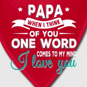 Papa i love you Caps - Bandana