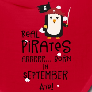 Real Pirates are born in SEPTEMBER Sez9t Caps - Bandana