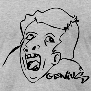 Genius Meme T-Shirts - Men's T-Shirt by American Apparel