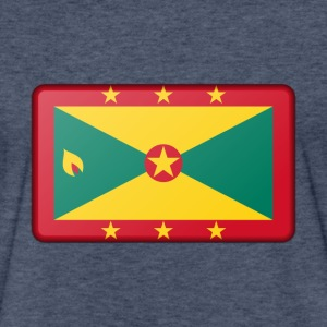 Grenada Flag T-Shirts - Fitted Cotton/Poly T-Shirt by Next Level