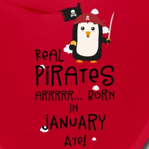 Real Pirates are born in JANUARY Sdyet Caps - Bandana