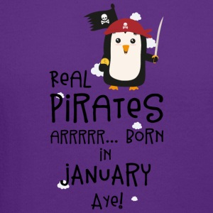 Real Pirates are born in JANUARY Sdyet Long Sleeve Shirts - Crewneck Sweatshirt