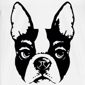 Pug glaring face - Men's Premium T-Shirt