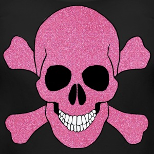 Pink Glitter Skull And Crossbones Maternity Shirt - Women's Maternity T-Shirt