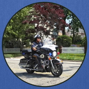 Motorcycle Police Officer Bags & backpacks - Tote Bag