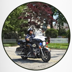 Motorcycle Police Officer Mugs & Drinkware - Travel Mug