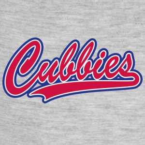 Cubbies Baseball Script - Baby Contrast One Piece