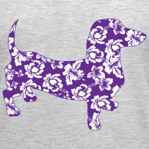 Aloha Purple Dachshund - Women's Premium Tank Top