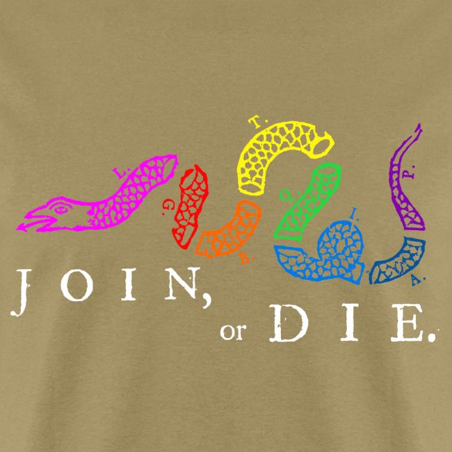 Join or Die LGBTQIA+ Shirt