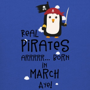 Real Pirates are born in MARCH Ssutv Sweatshirts - Kids' Premium Hoodie