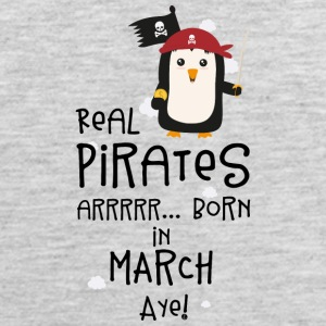 Real Pirates are born in MARCH Ssutv Sportswear - Men's Premium Tank