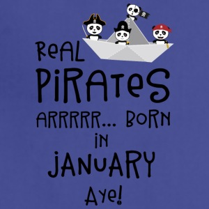 Real Pirates are born in JANUARY Sslix Aprons - Adjustable Apron
