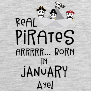Real Pirates are born in JANUARY Sslix Sportswear - Men's Premium Tank