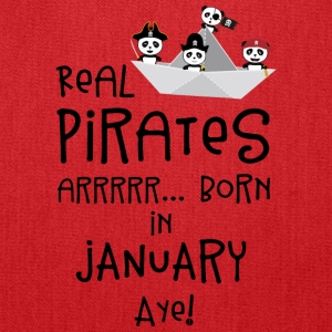 Real Pirates are born in JANUARY Sslix Bags & backpacks - Tote Bag