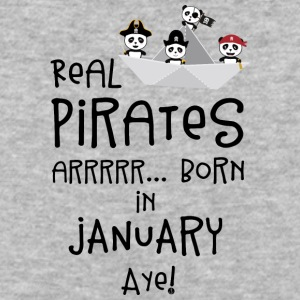 Real Pirates are born in JANUARY Sslix T-Shirts - Baseball T-Shirt