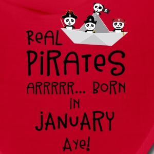 Real Pirates are born in JANUARY Sslix Caps - Bandana