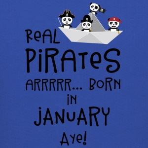 Real Pirates are born in JANUARY Sslix Sweatshirts - Kids' Premium Hoodie
