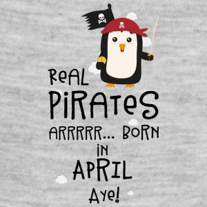 Real Pirates are born in APRIL Slwys Baby Bodysuits - Baby Contrast One Piece