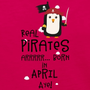Real Pirates are born in APRIL Slwys Long Sleeve Shirts - Women's Premium Long Sleeve T-Shirt