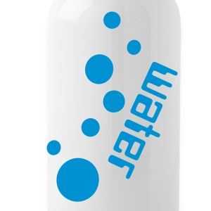 Water txt pattern Water Bottle - Water Bottle