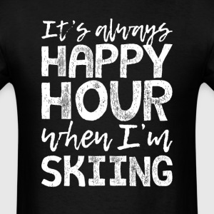 Skiing is My Happy Hour T-Shirts - Men's T-Shirt
