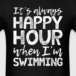 Swimming is My Happy Hour T-Shirts - Men's T-Shirt