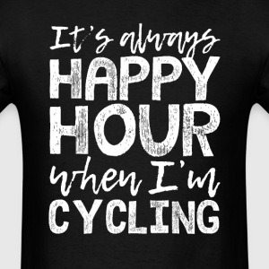 Cycling is My Happy Hour T-Shirts - Men's T-Shirt