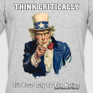 Think Critically Mens 50/50 T-Shirt - Men's 50/50 T-Shirt