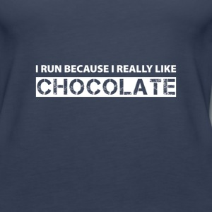 I run because i really like chocolate Tanks - Women's Premium Tank Top