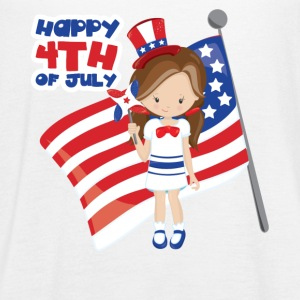 Happy 4th of July US Girl Tanks - Women's Flowy Tank Top by Bella
