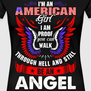 I Am An American Girl T-Shirts - Women's Premium T-Shirt