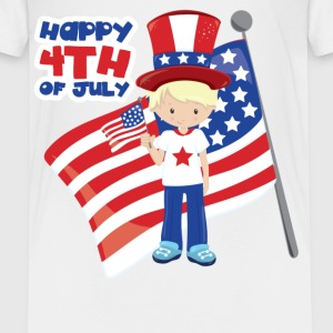 Happy 4th of July USA Boy Kids' Shirts - Kids' Premium T-Shirt