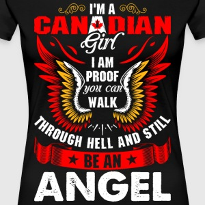 I Am A Canadian Girl T-Shirts - Women's Premium T-Shirt