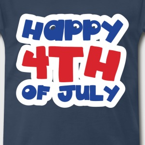 Happy 4th of July Red White and Blue - Men's Premium T-Shirt