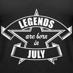 Legends are born in July (Birthday Present Gift) Tanks - Women's Premium Tank Top