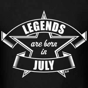 Legends are born in July (Birthday Present Gift) T-Shirts - Men's T-Shirt